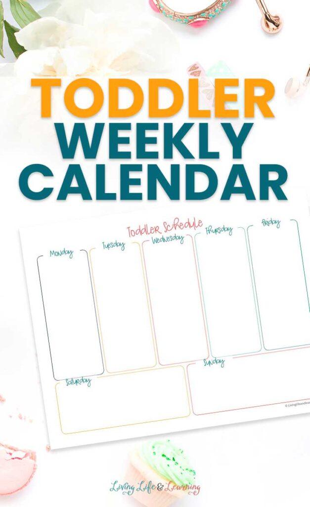 Toddler Weekly Calendar Printable